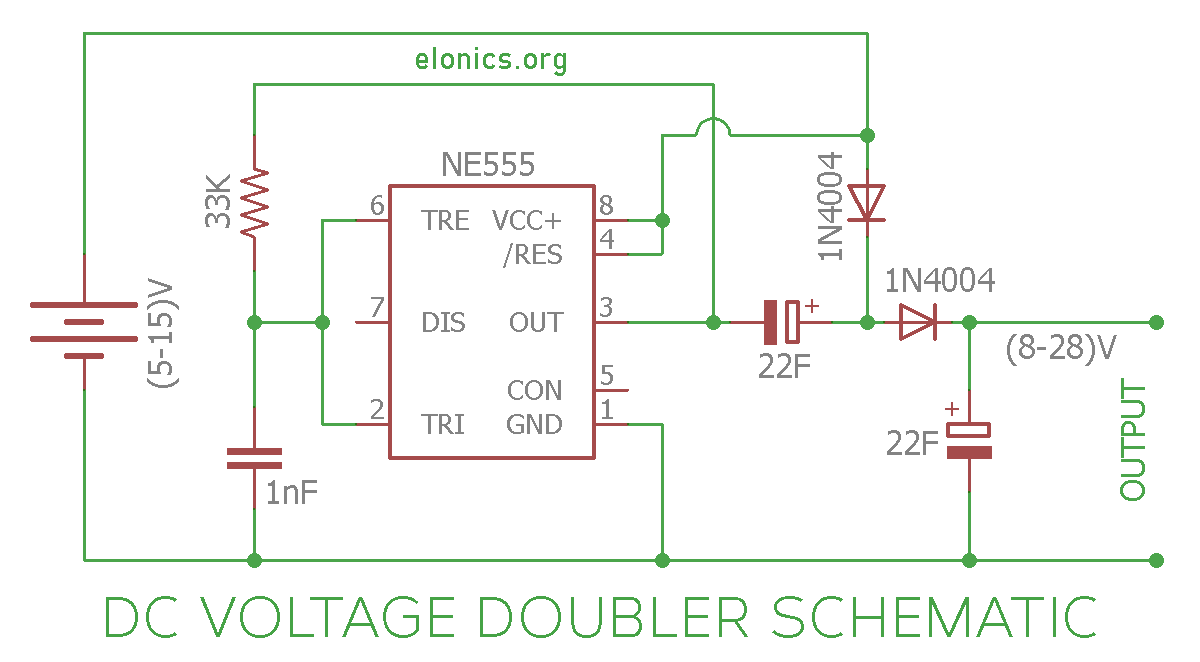 dc voltage doubler circuit diagram